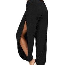 Merry Pretty summer high slit haren pants women solid hippie harem wide leg pants trousers S-3XL