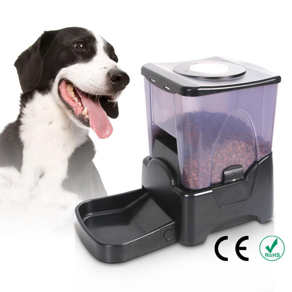 10.65L миска для домашних животных, PF 10A, высокая емкость, контроль порций, автоматическая собачья кормушка, дозатор для еды, черная кошка, умная