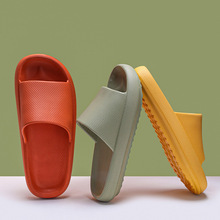 Spot Home – pantoufles à semelles épaisses de couleur unie, pantoufles de salle de bain antidérapantes à la mode pour Couple, pantoufles tendance de rue, vente en gros