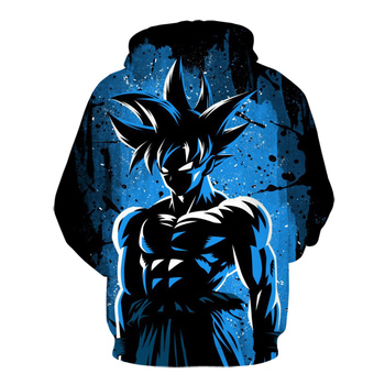 2020 New Seven Dragon Ball Z 3D Printed Men's Hoodies and   Animation Home Fashion Leisure Black Goku Garment Enlarged Size 2