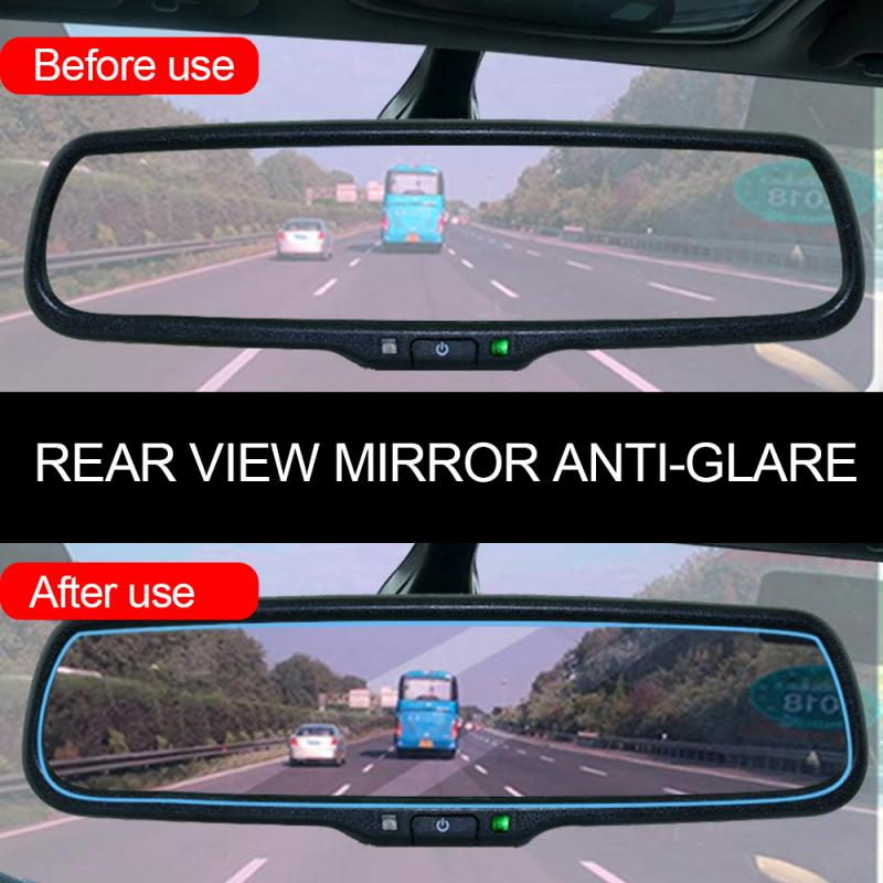 Car Accessories Interior Mirrors Protective Film Car Rearview Mirror Anti Glare Film Nano Anti Fog Waterproof Rainproof Film