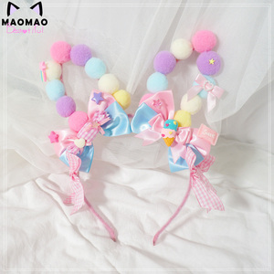 Image 4 - Lo Mother for sweet hand violet powder was yellow lolita small hairpin Hair bared sweet soft candy bear sister Meng
