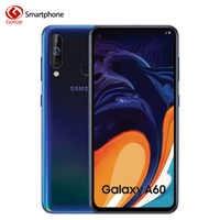 Samsung Galaxy A60 4G Snapdragon 675 Núcleo octa Smartphone Android 6.3 polegada Scree Completo 6GB 3500mAh 32MP camer NFC Telefones Celulares