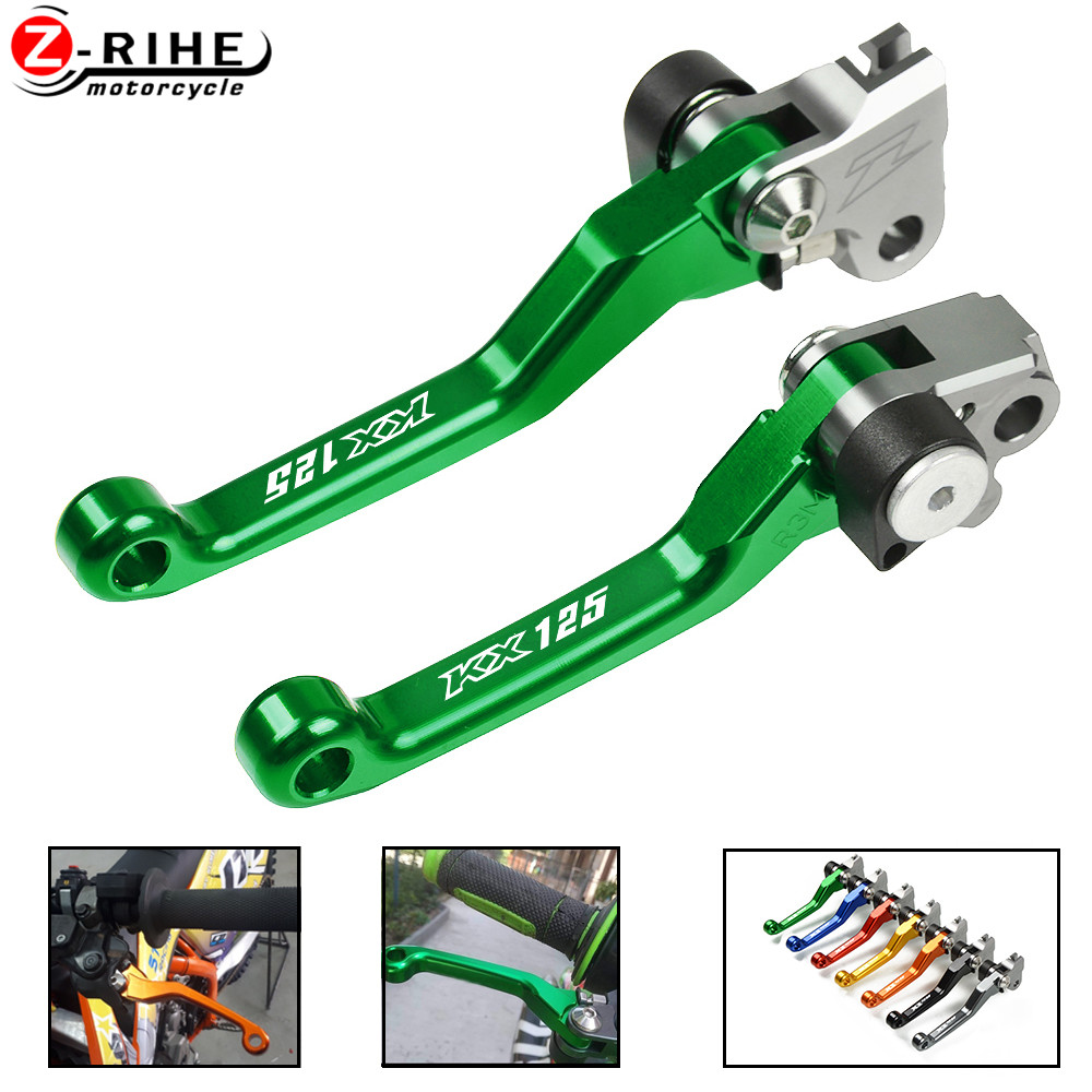 Motorcycle Accessories Adjustable Dirt Bike Pivot Brake Clutch Levers Motorbike <font><b>Parts</b></font> For KAWASAKI <font><b>KX125</b></font> KX 125 2006 2007 2008 image