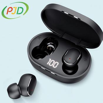 PJD TWS słuchawki Bluetooth bezprzewodowe słuchawki douszne do słuchawek Xiaomi Redmi z redukcją szumów z mikrofonem słuchawki głośnomówiące tanie i dobre opinie Zaczepiane na uchu Dynamiczny CN (pochodzenie) Prawdziwie bezprzewodowe 122dB Słuchawki do monitora Do gier wideo Zwykłe słuchawki