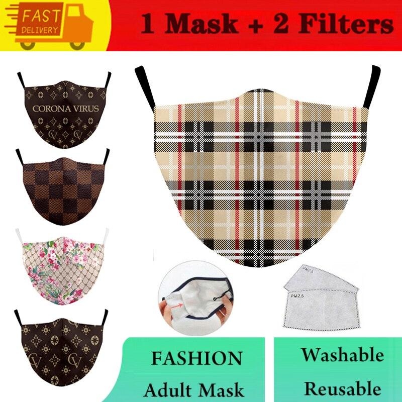 Защитный PM2.5 фильтр рот маски Геометрическая Печать многоразовая маска моющиеся Стиль анти противопылевая лицевая маска ветрозащитный Рот...