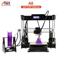 Anet A8 A6 3D Imprimante haute précision Impresora 3D écran LCD en aluminium Hotbed extrudeuse imprimantes kit de bricolage Imprimante 3D Imprimante