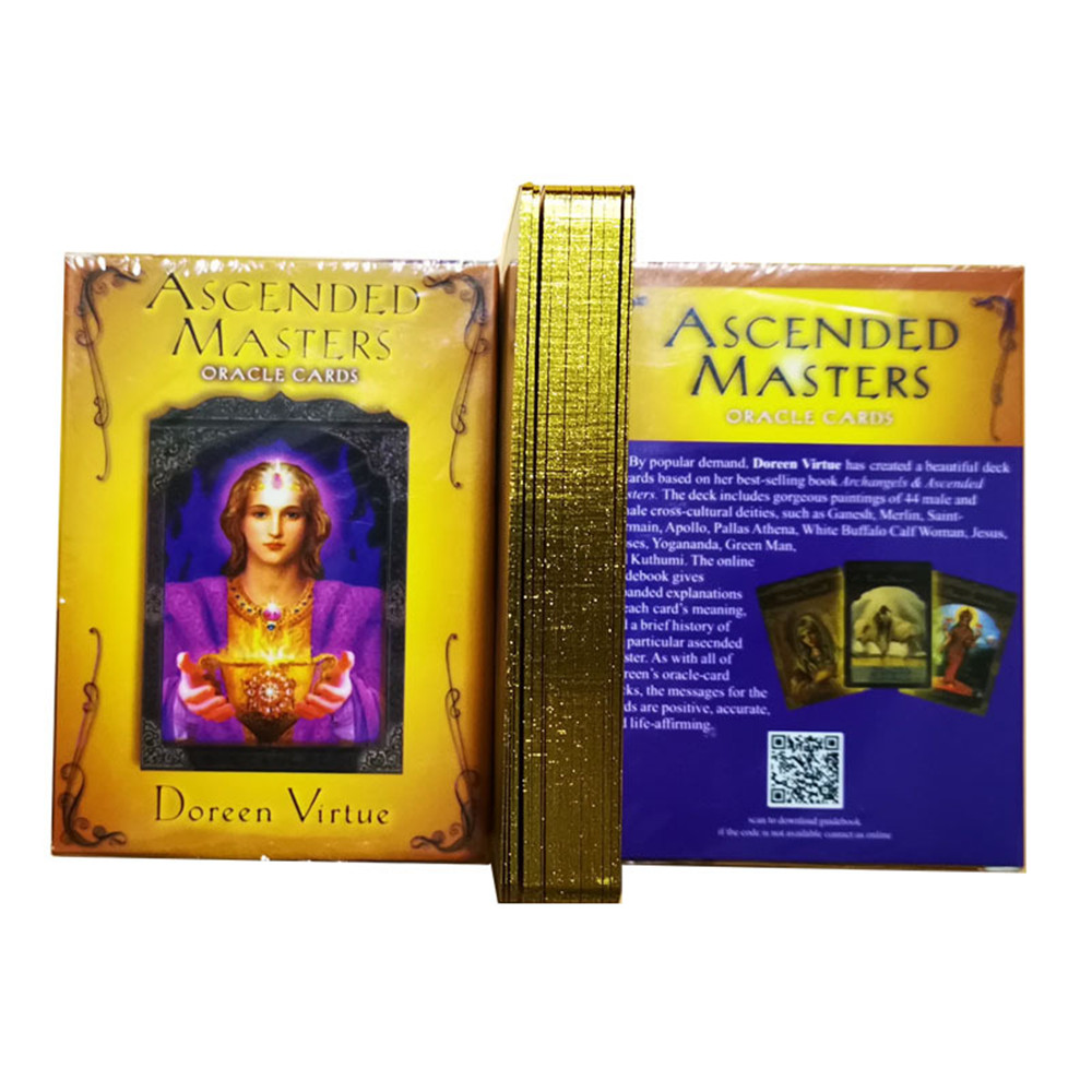 44pcs 2020 Original English The Ascended Masters Oracle Card Full English Party Playing Deck Card Board Game Guidance Divination