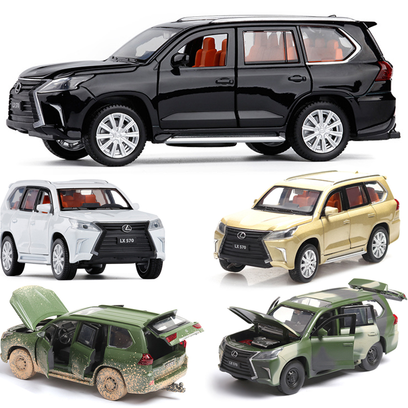 1:32  Lexus LX570 Alloy Car Model Pull Back 6 Doors Open Exhibits Kids Gift Toy