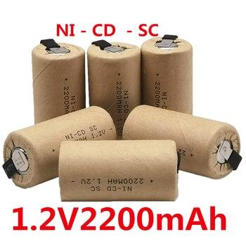 Baterie SC Nicd 1.2v 2200mah Sub C ni-cd akumulator SC Batteria do wkrętaki elektryczne wiertarki elektronarzędzia
