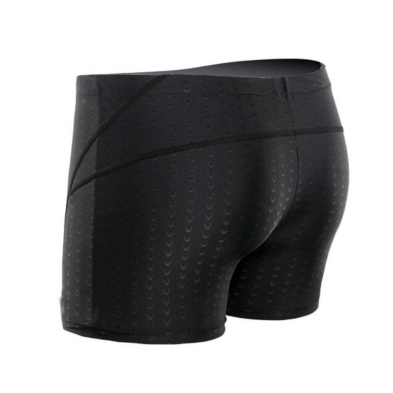 Hot Sales Men Faux Sharkskin Swimming Trunks Quick-Dry Breathable Large Size Boxer Swimming Trunks Comfortable