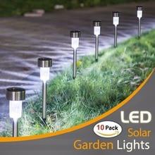 10PCS Solar Lights Outdoor LED Solar Garden Pathway Light  Warm White/Multiple  Landscape Light For Lawn/Patio/Yard/Walkway