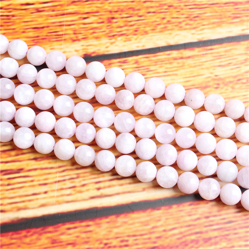 Purple Lihui Natural Stone Bead Round Loose Spaced Beads 15 Inch Strand 4/6/8 / 10mm For Jewelry Making DIY Bracelet Necklace
