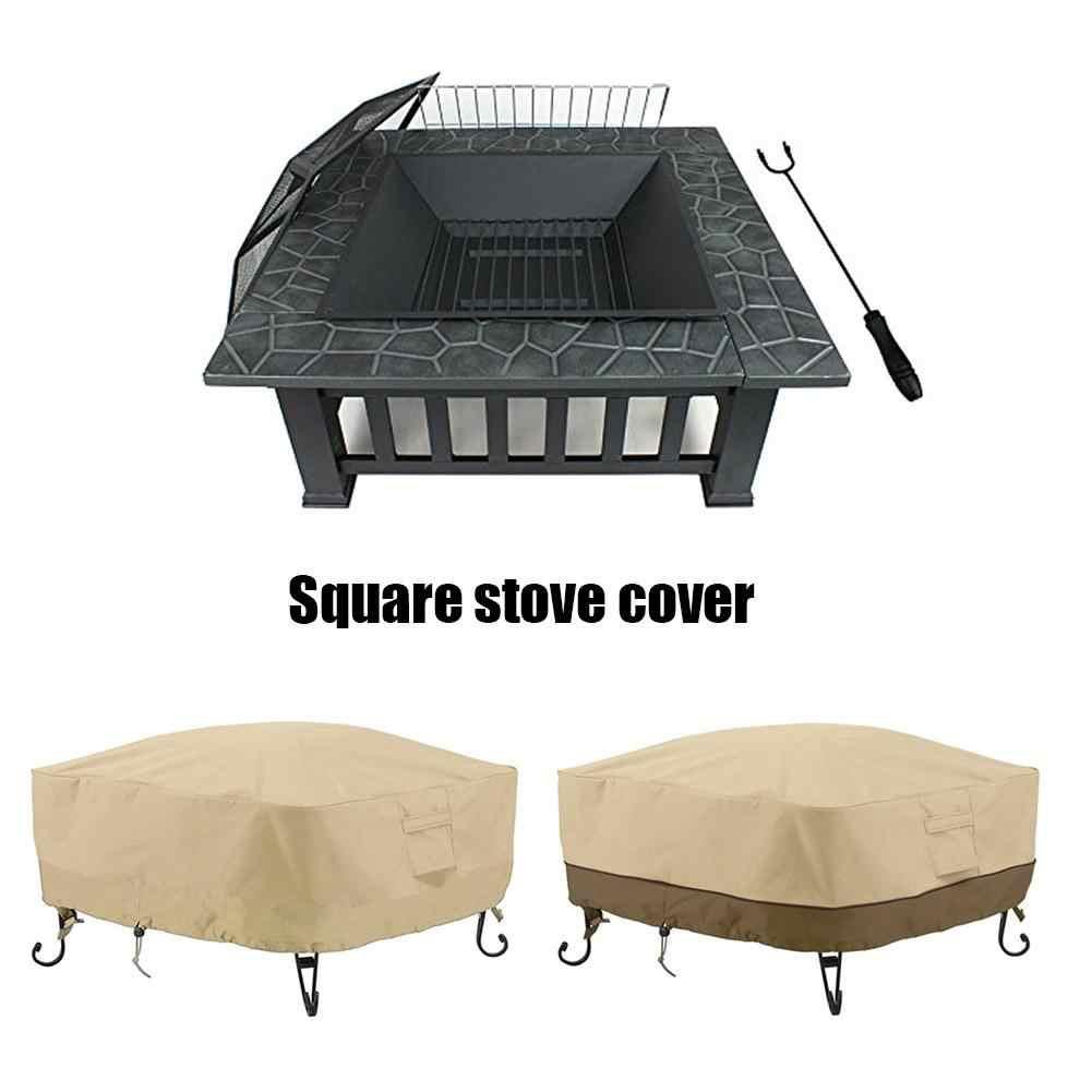 Водонепроницаемая садовая мебель квадратная пожарная яма покрытие для плиты