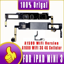 A1599 A1600 Originele Unlocking Schoon Icloud Logic Main Boards Voor Ipad Mini 3 Moederbord Wifi En Sim 3G Cellulaire logic Boards