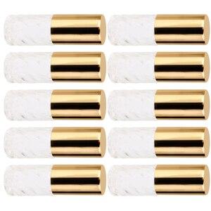 10Pcs 5ml Mini Empty Perfume Roller Bottles Refillable Tubes Container Vials