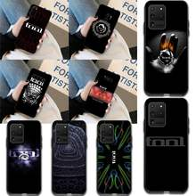 Cutewanan Tool Metal Rock Band Logo Diy Geschilderd Bling Phone Case Voor Samsung S20 Plus Ultra S6 S7 Rand S8 s9 Plus S10 5G(China)