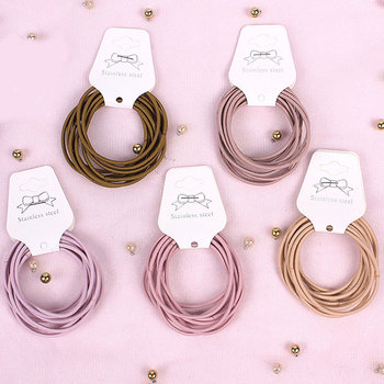 10pc/set 5CM Hair Accessories women Rubber bands Scrunchy Elastic Hair Bands Girls Headband decorations ties Gum