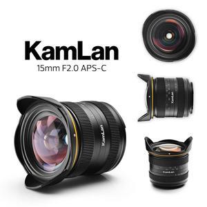 Image 2 - Kamlan 15mm F2.0 APS C geniş açı sabit odak manuel lensli aynasız kamera lens için EOS M NEX Fuji m4/3