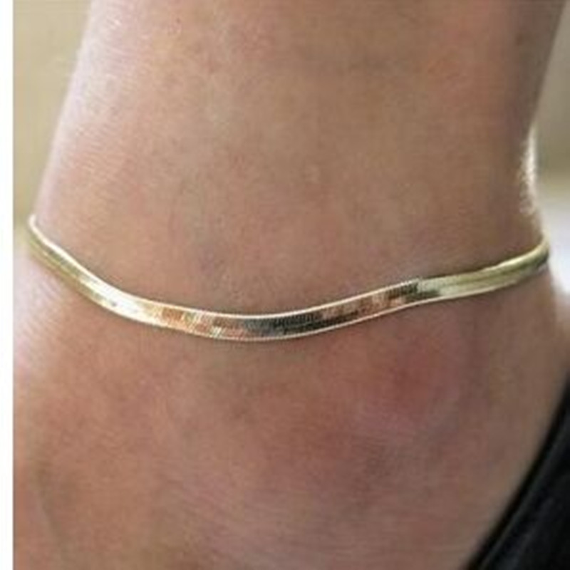 Waterproof Wax Thread Hand-knitted Anklet for Women Round Pendant Fashion Simple Beach Jewelry 2