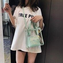Korean Style Fashion Bags/Ladies Luxury Bags/Woman's Handbag/Transparent Jelly Bag Women Crossbody Bag Beach Bag стоимость