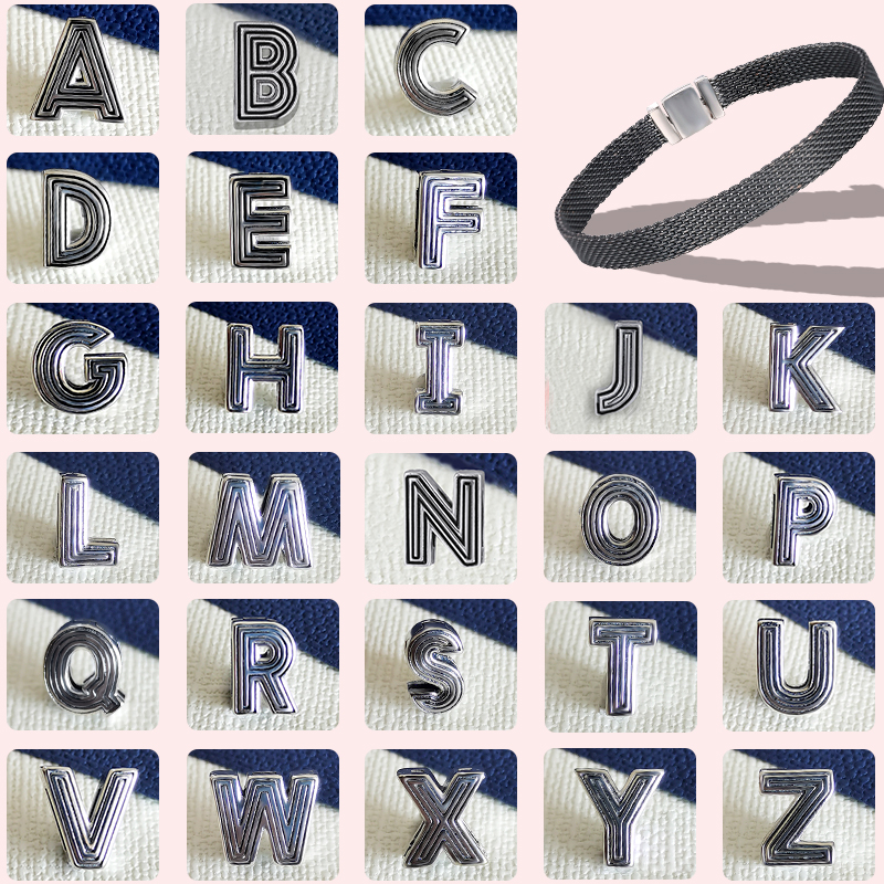 2020 NEW 26 Letter Alphabet Charms Clip Fit For Original 925 Pandora Reflexions Bracelet Female Name Custom DIY Jewelry Gifts