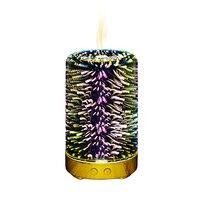 Luz da noite led 3d lâmpada de fogo de artifício umidificador ar aroma difusor óleo ultra sônica pulverizador aromaterapia lâmpada plugue da ue|Umidificadores| |  -