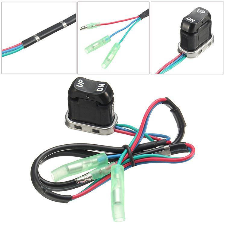 HiMISS Trim controlador remoto interruptor de inclinación para Yamaha fueraborda 703-82563-02-00