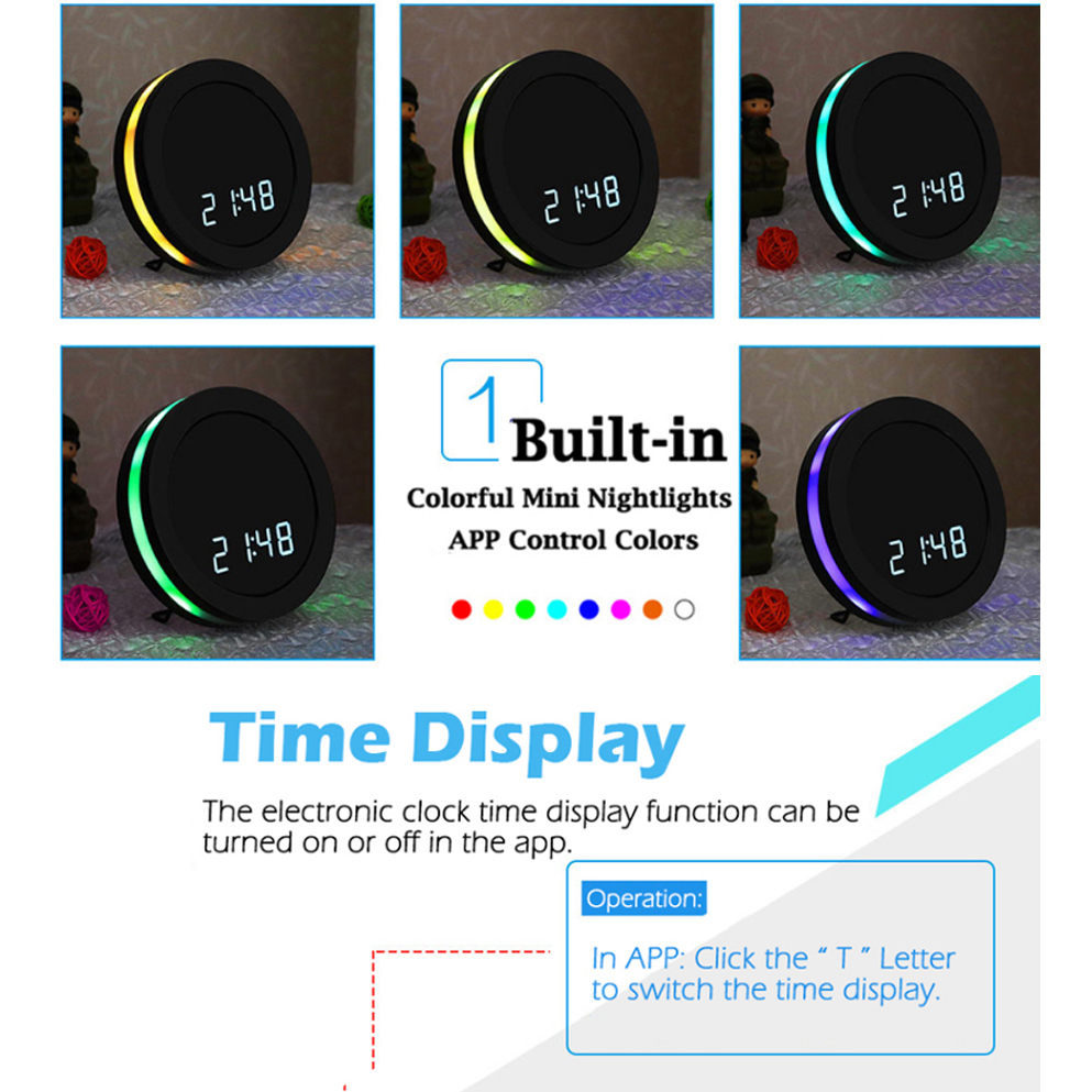Full HD 1080p Video Mini Desktop Table Clock With Camera Wifi IP Cam Night Vision Motion Sensor Body Secret Small Micro DVR DV in Mini Camcorders from Consumer Electronics