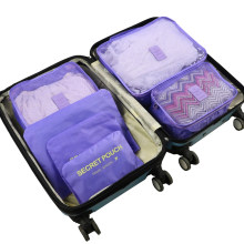6pcs/set Waterproof Travel Clothes Storage Bag Wardrobe Luggage Cube Container Organizer for Underwear Suits Shoes Partition(China)