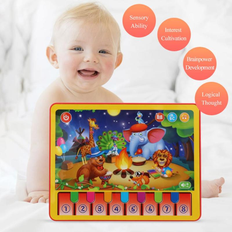 Early Education Multi-function Learning Machine ABS Multi-function Animal Performance Play Piano Children Music Learning Tablet