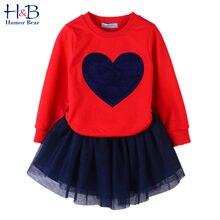 Humor bear/костюм со свитером для девочек новый осенний Детский