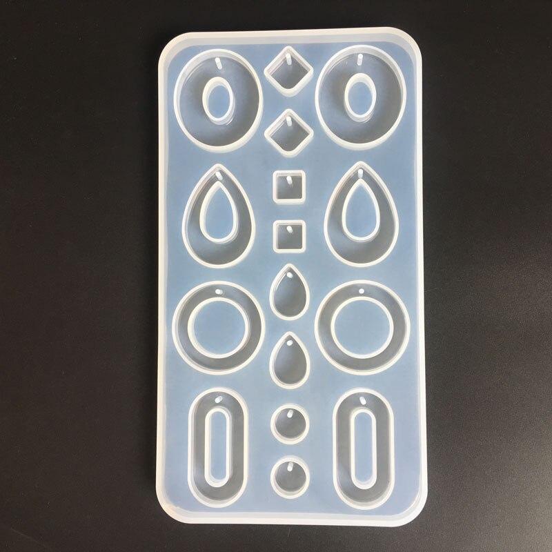 Diy gota de água redonda forma geométrica brinco modelagem gota cola espelho molde jóias acessórios