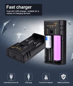 Image 2 - PHOMAX 2 slot 18650 Q2 LED smart display batterie power schnelle ladegerät für 17650 26500 22650 IMR/lithium ionen akku