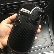 Black Bag Cage  Car Key Fob Signal Blocking Pouch Bag Rfid Key Protective ~sale rfid car key pouch black electromagnetic blocking shielding double layer key case bag with key ring anti lost leather