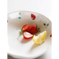creative strawberry printed ceramic bowls 8 inch salad fruits desserts soup bowl on glazer home cutlery Europe style