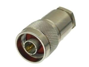 Image 4 - 10 Uds. De conector N macho, abrazadera de enchufe RG8 LMR400 RG213 RG165 RG393 RG214 Adaptador Coaxial RF recto