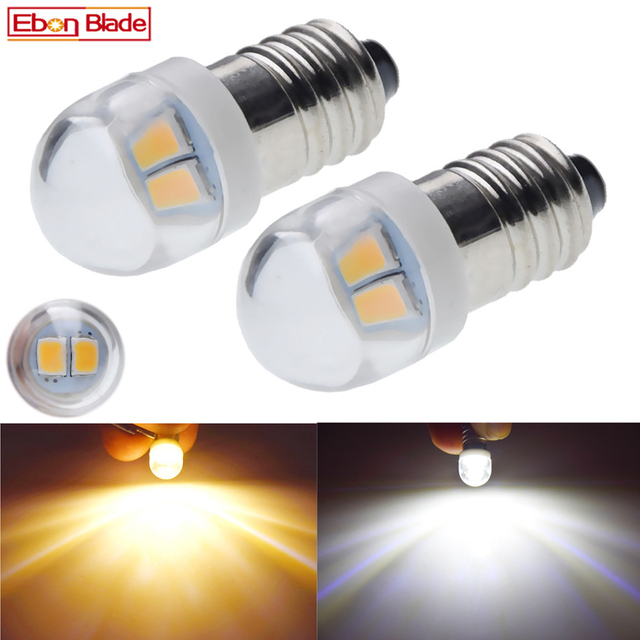 Пара светодиодных ламп E10 1447, 3 в, 6 в, светодиодный фонарь на замену, 3 в, 6 в, ксеноновая лампа белого цвета