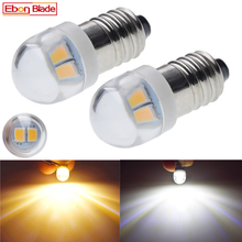 Para E10 1447 LED latarka żarówka lampa 3 V 6 V Led wymiana żarówki latarka latarka żarówka 3 V 6 V żarówka wkręcana Xenon White