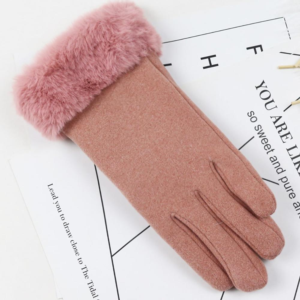 Ski Gloves Girls New Fashion Snow Gloves For Women Winter Non-slip Cuffs Soft Gloves Bike Outdoor Gloves Women 30S19
