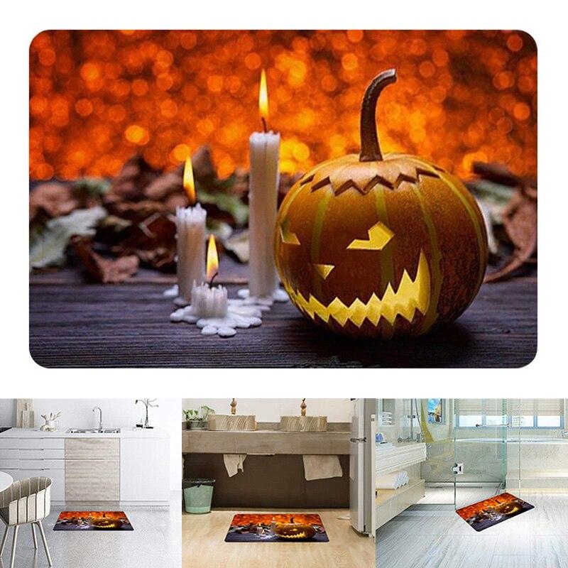 Newly Halloween Rug Scene Arrangement Props Printed Carpet Floor Mat for Doorway Kitchen Bathroom XSD88