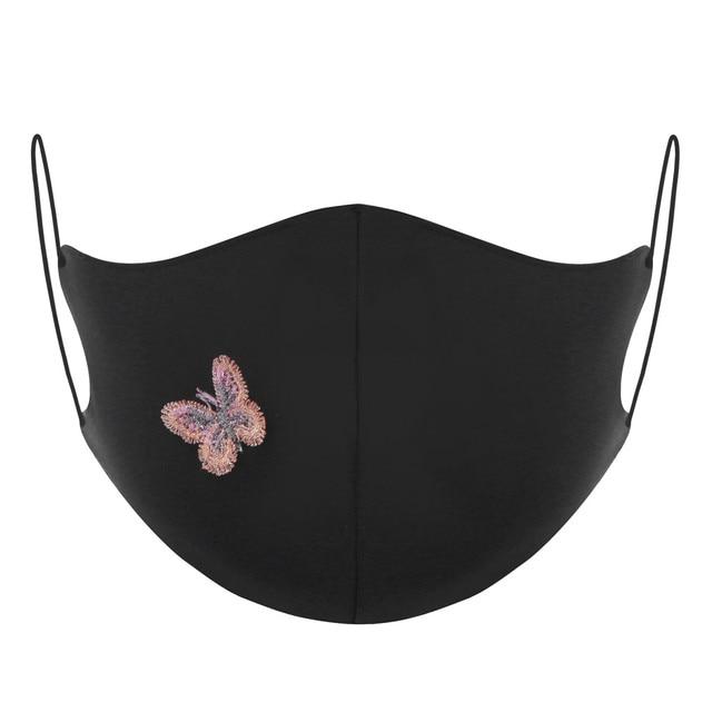 New Arrivals 2020 Washable Reusable Daisy Butterfly Pattern Face Mask 3D Cloth Dust proof Women Men Mouth Masks Unisex Korean 5 2