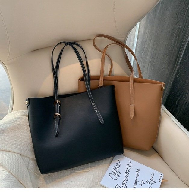 SMOOZA Women bag Solid Women's PU Leather Handbags Luxury Lady Hand Bags Purse Pocket Women messenger bag Big Tote Sac Bols Uncategorized Fashion & Designs Ladies Bags Luggage & Bags Women's Fashion