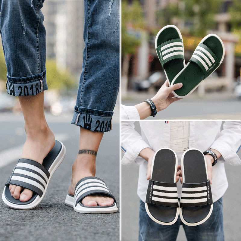 Couples Shoes Summer Slippers Men's Shoes Slides Men Slippers Slip Slippers Non-slip Wear-resistant Fashion Sandals Thick Bottom