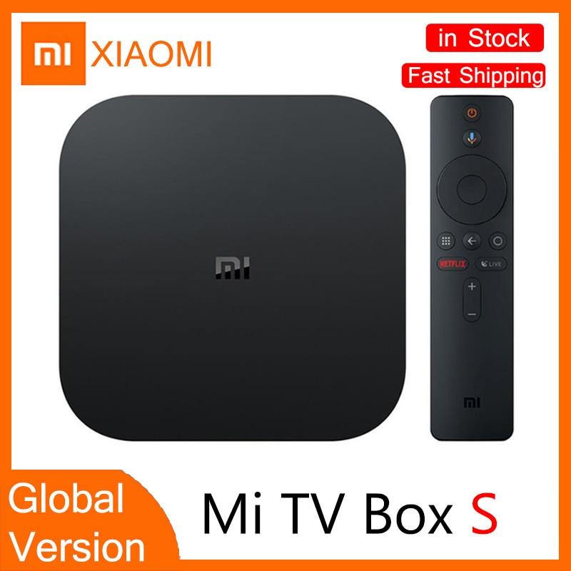 ТВ-приставка Xiaomi Mi TV Box S глобальная версия 4K HDR Android TV потоковый медиаплеер и Google Assistant удаленный Smart TV MiBox S