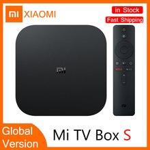 Xiaomi mi caixa de tv s versão global 4k hdr android tv streaming media player e google assistente remoto smart tv mibox s