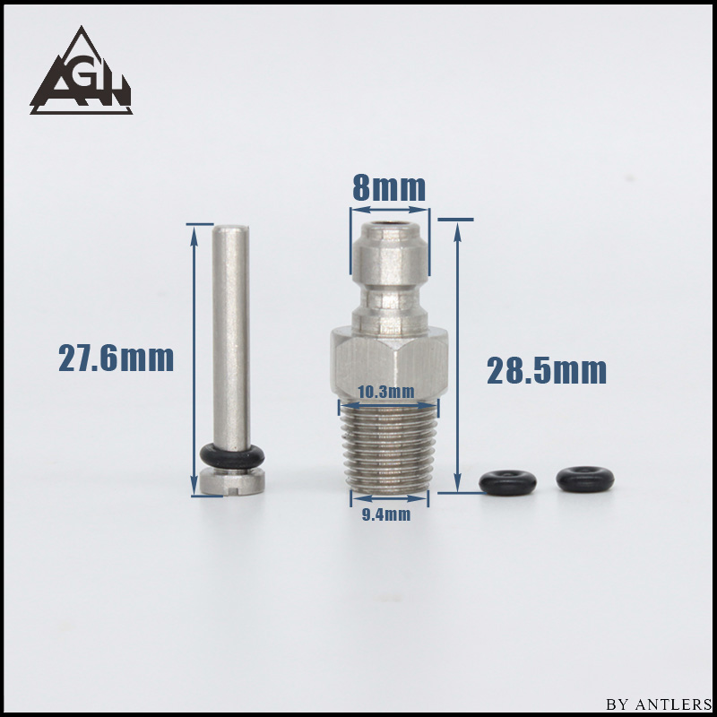 Image 5 - Paintball PCP Filling Nipple Stainless Steel 8mm Air Tank Quick Release Coupler Plug with One Way Foster 1/8NPT 10PCS Oring free-in Paintball Accessories from Sports & Entertainment