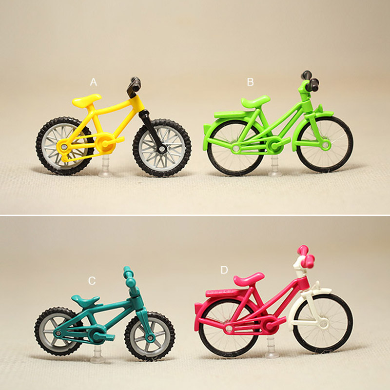 Model Toys Miniature Bicycle Model Children Toys Small Bike Model Toy For Boys Kids Plastic Mini Gift Collection Toys
