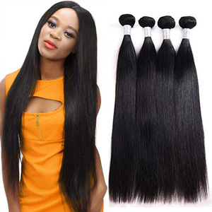 Image 1 - Rucycat 8 40 Inch Peruvian Human Hair Bundles Straight 100% Remy Hair Weave Bundles 1/3/4/Lot Hair Weave Free Shipping