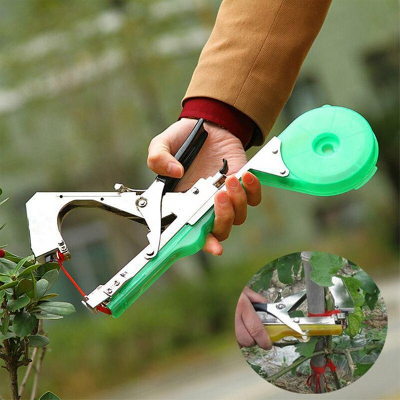 Garden Tying Machine Plant Garden Plant Tapetool Tapener Tape For Vegetable Pruning Tools Fruit Tree Stem Bundling Machine